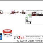 Аутоматска линија за пуњење масти 100МЛ-5Л