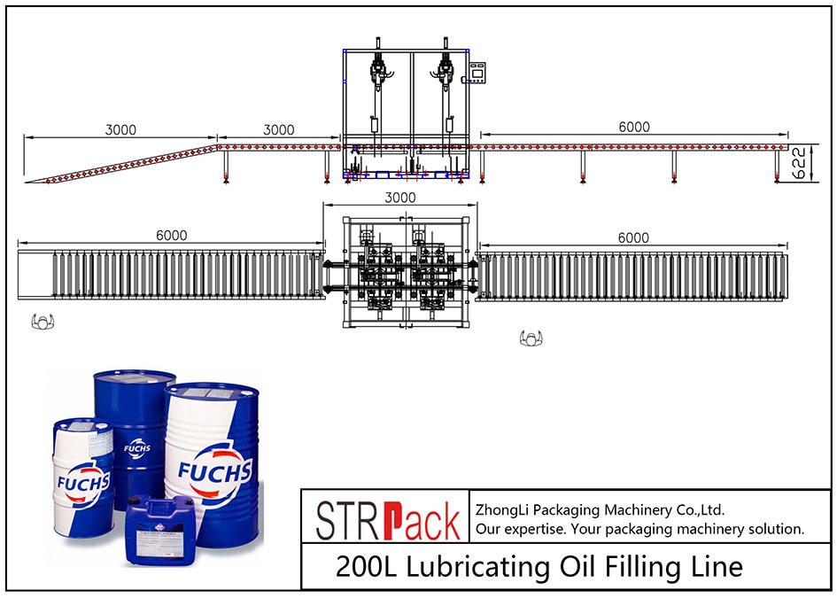 Аутоматска линија за пуњење уља од 200 Л