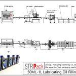 Аутоматска линија за пуњење уља 50МЛ-1Л