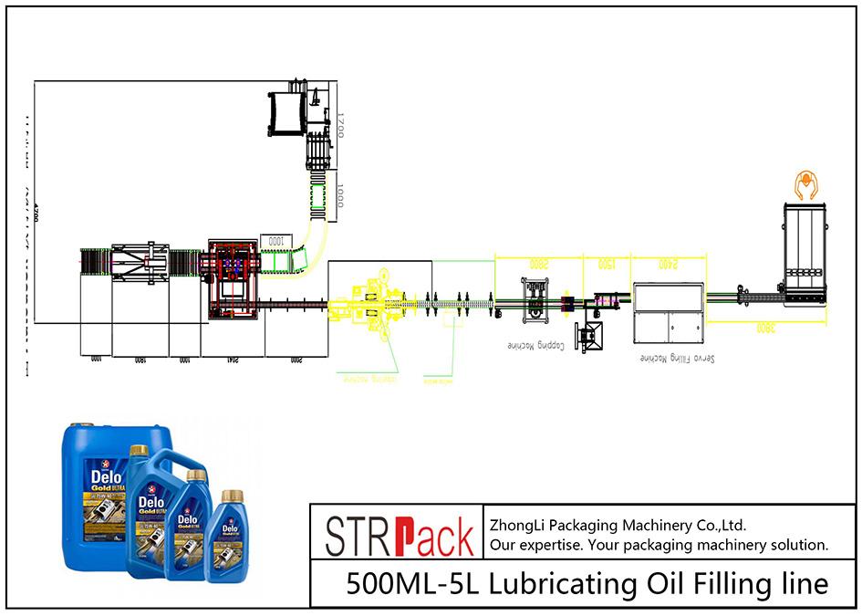 Аутоматска линија за пуњење уља 500МЛ-5Л