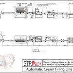 Аутоматска линија за пуњење крема