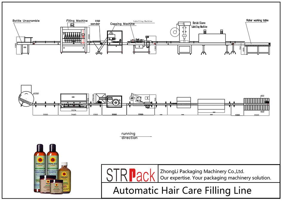 Аутоматска линија за пуњење неге косе