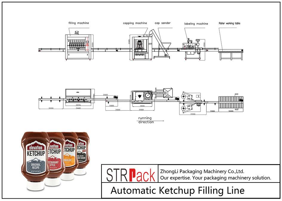 Аутоматска линија за пуњење кечапа