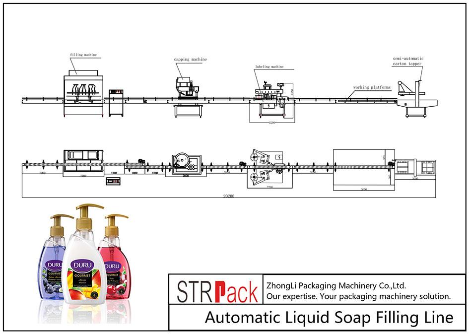 Аутоматска линија за пуњење течног сапуна