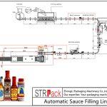 Аутоматска линија за пуњење сосом