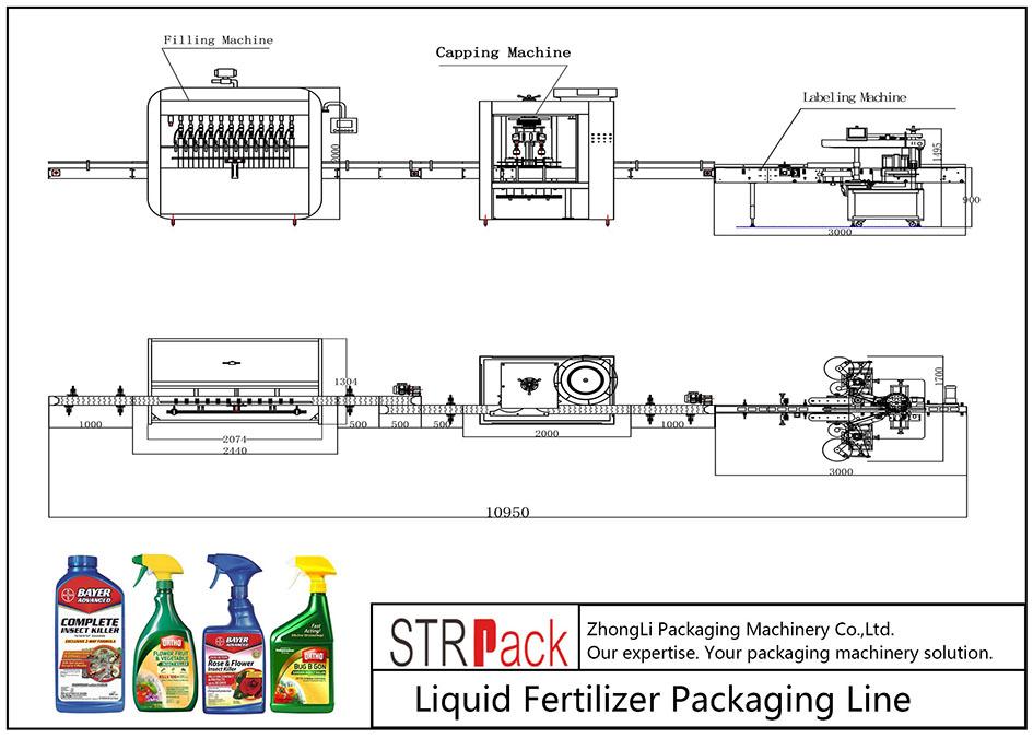 Линија за паковање аутоматског течног ђубрива