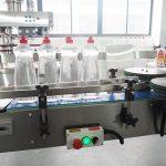 Чишћење линије за картонске боце са машинама за течно пуњење